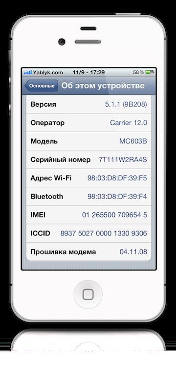 разблокировать iphone 4 от оператора