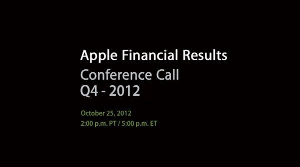 25 октября Apple подведет финансовые итоги прошлого квартала