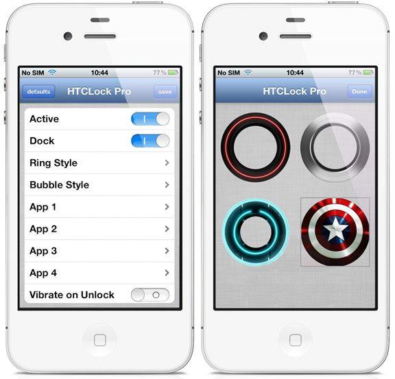 Джейлбрейк-твик ICSLock Pro добавит на iPhone и iPod экран разблокировки из Android