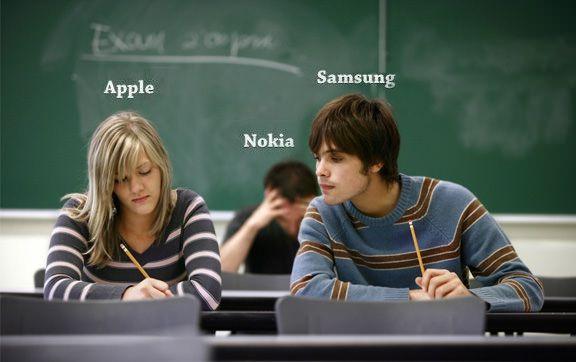 Nokia посмеялась над Apple и Samsung