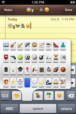 Как получить быстрый доступ к смайликам Emoji на клавиатуре iPhone или IPad