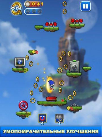 Скачать Sonic Jump для iPhone, IPad и iPod Touch [App Store]