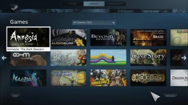 Режим Big Picture доступен для игрового сервиса Steam на Mac