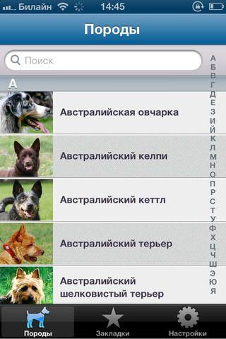 Все о Собаках - самый полный каталог пород собак. Приложение для iPhone и IPad