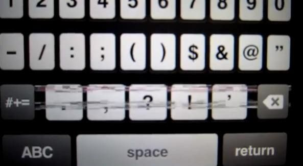 """Некоторые пользователи iPhone 5, жалуются на """"спецэффекты"""" виртуальной клавиатуры"""