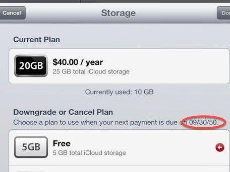 Бывшие пользователи MobileMe получат бесплатно 20 Гб в iCloud до 2050 года?