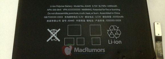 В сети появились фотографии батареи IPad mini