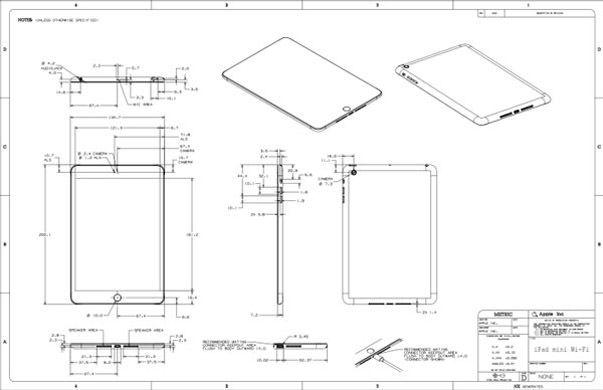 Опубликованы чертежи iPad 4 и iPad mini