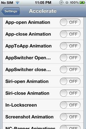 Джейлбрейк-твик Accelerate позволит ускорить анимацию на iPhone или iPad