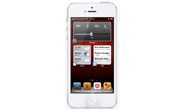 Довольно интересный концепт изменения размеров иконок в iOS
