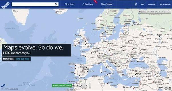 """Nokia Here - собственный картографический сервис от финского """"гиганта"""""""