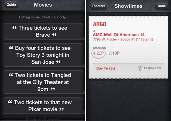 Siri научат бронировать билеты в кинотеатр