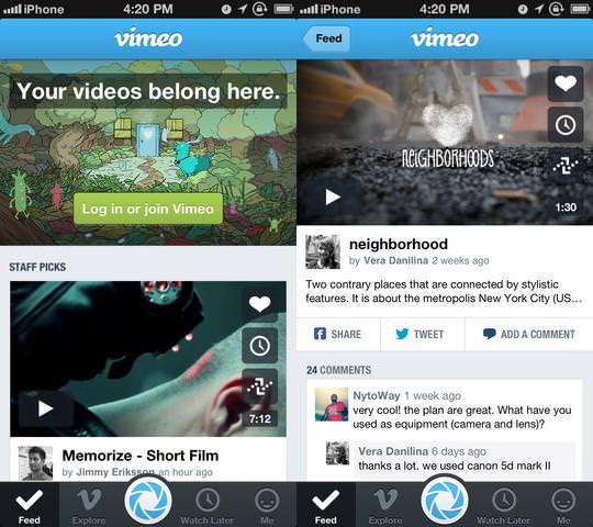 Обновленный Vimeo для iPhone и iPad лишился функции редактирования видео