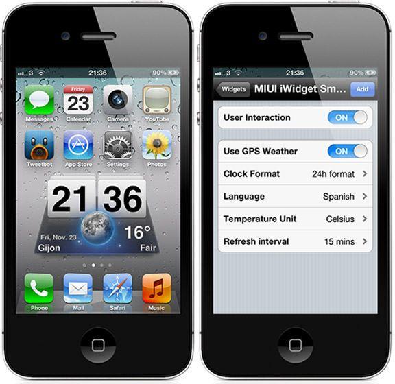 Джейлбрейк-твик Miui Weather iWidget добавит одноименный виджет из Android в iOS