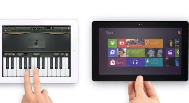 """Surface от Microsoft """"убивает"""" iPad mini в его же рекламе"""