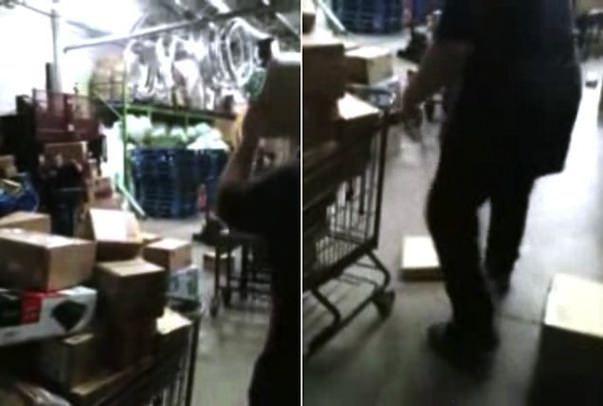 Видео о том, как работники склада крупнейшей розничной сети Walmart пинают коробки с новыми iPad