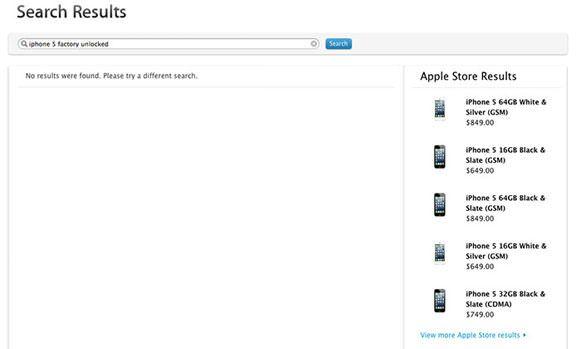 Цены на официально разлоченные iPhone 5 (неверлок) появились на сайте Apple