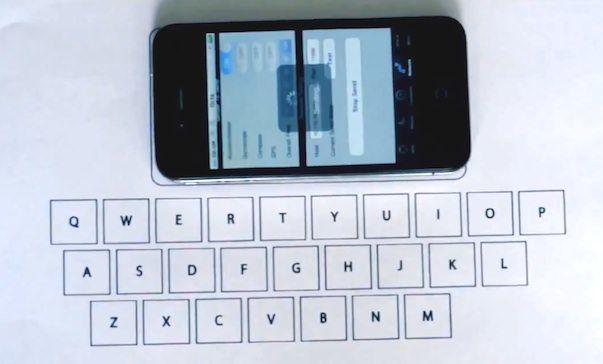 Студент создал первую невидимую виртуальную клавиатуру для iPhone