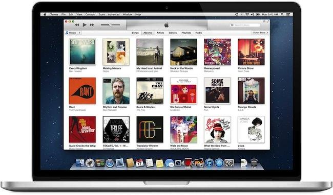 Вид библиотеки в iTunes 11