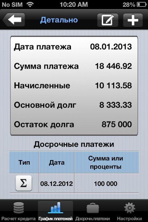 Калькулятор ипотеки для iPhone/iPad. Расчет ипотеки с учетом досрочных платежей, комиссий и страховки