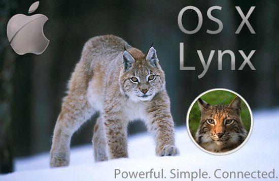 Следующая версия OS X возможно будет названа Lynx (Рысь)