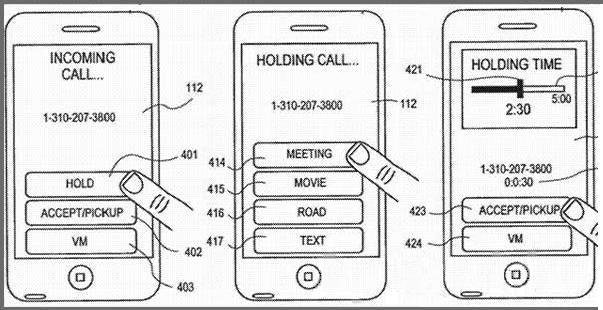 Apple получила патент на систему удерживания входящих звонков