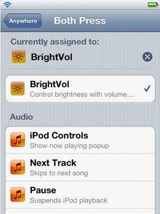 Джейлбрейк-твик BrightVol - управление яркостью экрана с помощью кнопок регулировки громкости