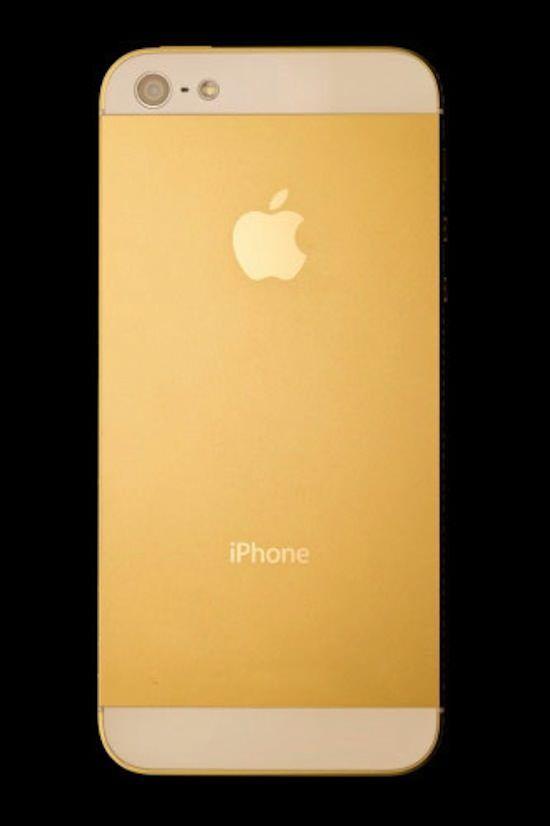 Золотой iPhone 5 от Amosu Couture с кристаллами Swarovski