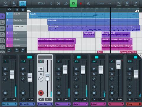 Скачать Cubase (Cubasis) для iPad: Garage Band нервно «курит» в сторонке