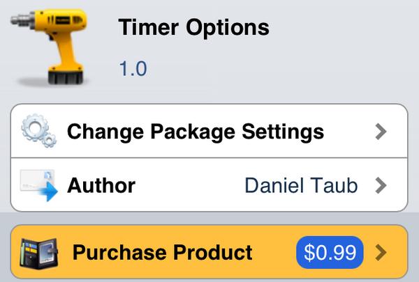 Джейлбрейк-твик Timer Options активирует ряд функций iPhone или iPad через определенное время
