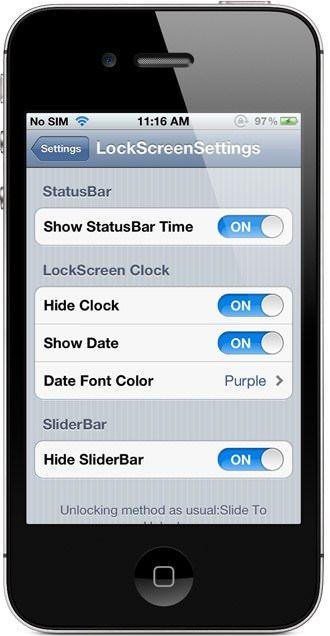 Джейлбрейк-твик LockScreen Settings кастомизирует экран блокировки iPhone и iPad