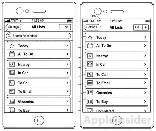 Патент умного менеджера задач iOS