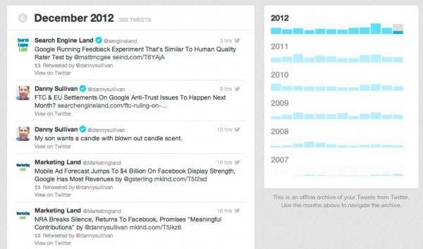 Как скачать архив истории Twitter и просматривать его на компьютере