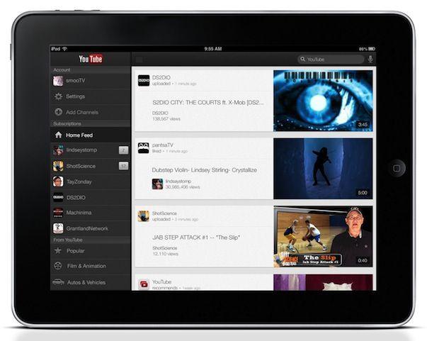 Скачать обновленное приложение YouTube для iPad, iPhone и iPod Touch