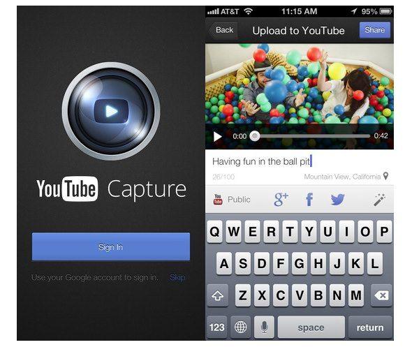 Скачать YouTube Capture - съемка и загрузка видео в YouTube с iPhone и iPad