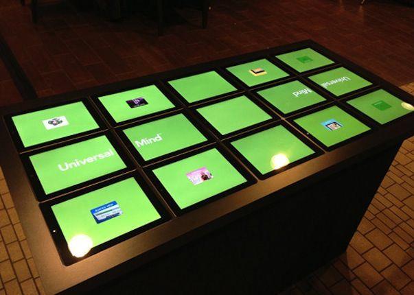 Cенсорный стол из 15 iPad