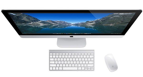 Новый iMac вид сверху