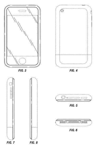 Спустя 5 лет Apple получила патент на дизайн iPhone 2G