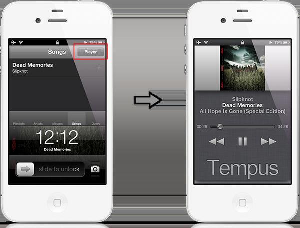 Джейлбрейк-твик Tempus - управление плеером с экрана блокировки iPhone