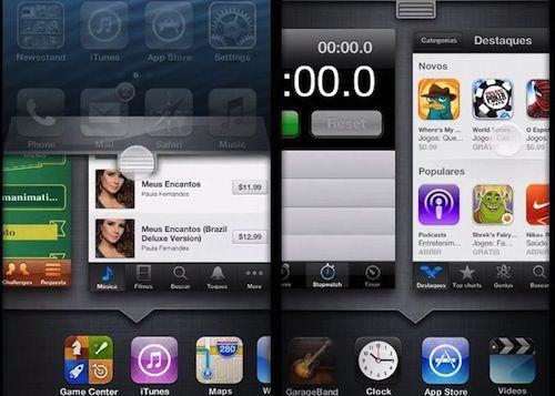 Концепт приложения Настройки в iOS 7 на iPhone 5