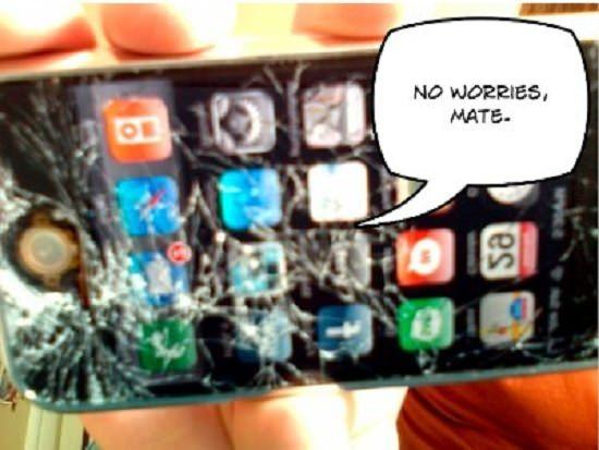 Опасные зоны для iPhone