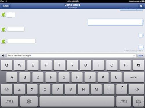 Facebook Messenger. Как включить поддержку iPad