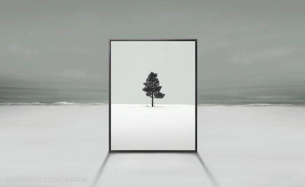 Рекламное фото новго ТВ от Samsung