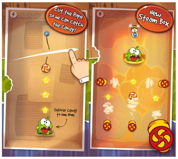 cut the rope steam box for iphone
