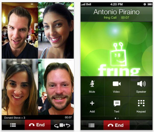 Скачать Fring с поддержкой iPhone 5 и привязкой к номеру телефона