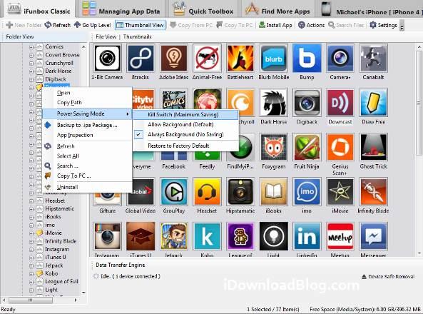Как сохранить зарядку на iPhone и iPad при помощи iFunBox