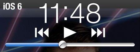 Управление музыкой на экране блокировки в iOS 6.0
