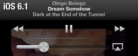 Новое упрвление музыкой на iOS 6.1