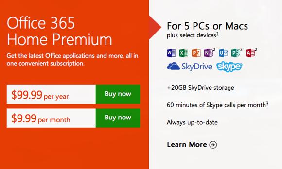 Появилась подписка Office 365 Home Premium