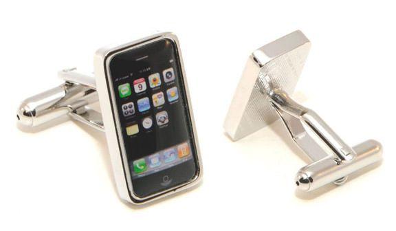 Стильный аксессуар для мужчин - запонки в виде iPhone